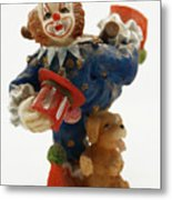 A Candy Colored Clown Metal Print
