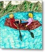 A Canoe Ride Metal Print