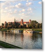 A Castle On The River Metal Print