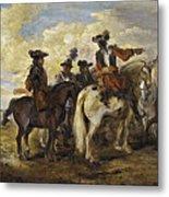 A Cavalry Skirmish Metal Print