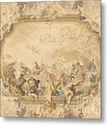A Ceiling With Apollo Presiding Over Military And Historical Learning Metal Print