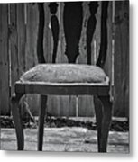 A Chair In Despair Metal Print