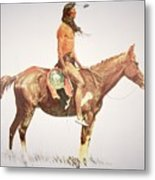 A Cheyenne Brave Metal Print