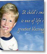 A Child's Smile Metal Print