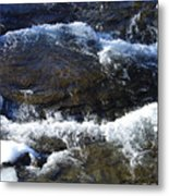 A Chilly Froth Circles A Resting Stone Metal Print