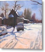 A Christmas Snow Metal Print