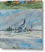 A Church For All Seasons Metal Print