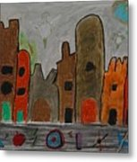 A Child's View Of Downtown Metal Print