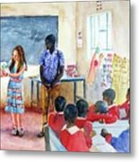 A Classroom In Africa Metal Print