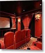 A Classy Home Theater Set Up Metal Print