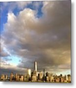A Cloudscape And Its Cityscape Metal Print