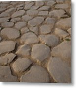 A Cobblestone Road In Rome Metal Print