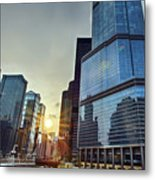 A Cold Chicago Day Metal Print