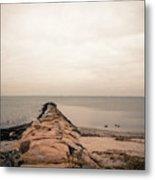 A Cold Compo Beach  Metal Print
