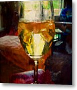 A Cold Glass Of Wine Metal Print
