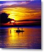 A Colorful Golden Fishermen Sunset Vertical Print Metal Print