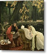 A Convalescent Metal Print by James Jacques Joseph Tissot