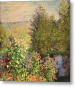 A Corner Of The Garden At Montgeron Metal Print