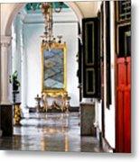 A Corridor In Keraton Sultan Palace Yogyakarta  Metal Print