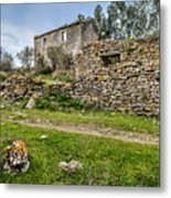 A Cottage In Ruins Metal Print