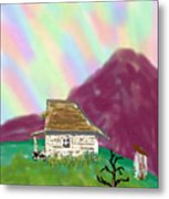 A Cottage In The Alps Metal Print