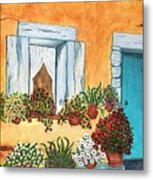 A Cottage In The Village Metal Print