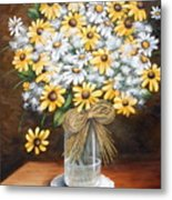 A Country Bouquet Metal Print