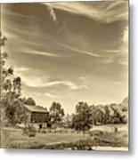 A Country Place 3 - Sepia Metal Print