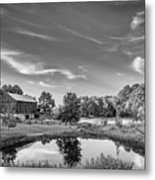 A Country Place Bw Metal Print