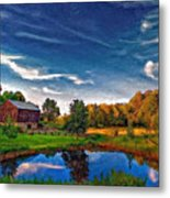 A Country Place Painted Version Metal Print