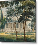 A Country Residence Possibly General Moreau's Country House At Morrisville Pennsylvania Metal Print