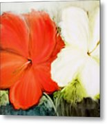 A Couple Of Flowers Metal Print by Fatima Stamato