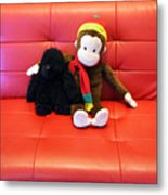 A Couple Of Monkeys Metal Print