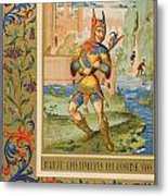A Court Fool Of The 15th Century. 19th Metal Print