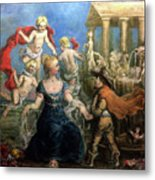 A Courtly Couple Courting Metal Print