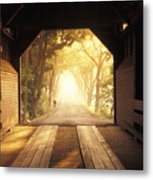 A Covered Bridge In New Market Metal Print