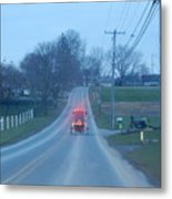 A Cozy Buggy Ride Home Metal Print