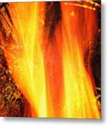 A Cracking Flame Metal Print
