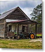 A Crooked Little Barn Metal Print