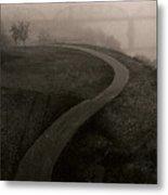 A Dark Widing Road Metal Print