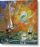 A Date With The Sunset Metal Print
