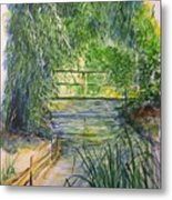 A Day At Giverny Metal Print