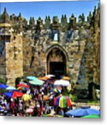 A Day At The  Bazaar Metal Print