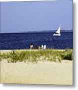 A Day At The Beach - Martha's Vineyard Metal Print