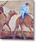A Day At The Camel Races Metal Print
