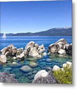 A Day At The Lake Metal Print