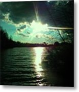 A Day At The Lake Metal Print by Robin Coaker