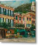 A Day In Portofino Metal Print by Charlotte Blanchard