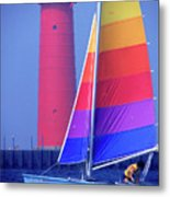 A Day Of Sailing Metal Print