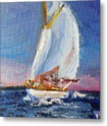 A Day On A Boat Is..... Metal Print